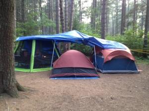 Our campsite at Pog Lake, Algonquin Park.