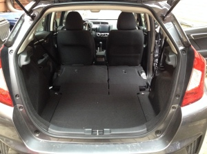 Lots of cargo space in the 2015 Honda FIT EX CVT. Photo by Sandy Caetano