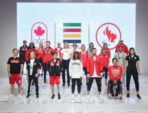 Hudson's Bay Company, the Canadian Olympic Committee, and the Canadian Paralympic Committee launch the Team Canada Collection for Rio 2016. (Photo by George Pimentel Photography)